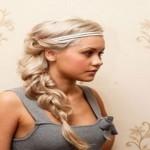 coiffure blonde tresse